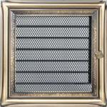 Zsalus kandalló szellőzőrács 17x17 cm - rusztikus