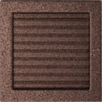 Zsalus kandalló szellőzőrács 22x22 cm - fekete-réz