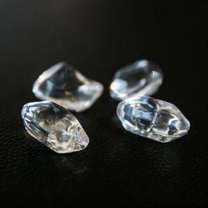 Kandalló dekorációs kő 1kg átlátszó üvegkristály