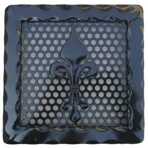 Kovácsoltvas kandalló szellőzőrács - 220×220 mm - fekete