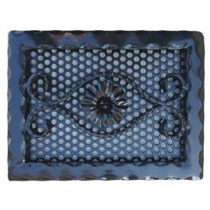 Kovácsoltvas kandalló szellőzőrács - 285×220 mm - fekete
