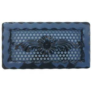 Kovácsoltvas kandalló szellőzőrács - 300×160 mm - fekete