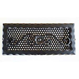 Kovácsoltvas kandalló szellőzőrács - 360×160 mm - fekete