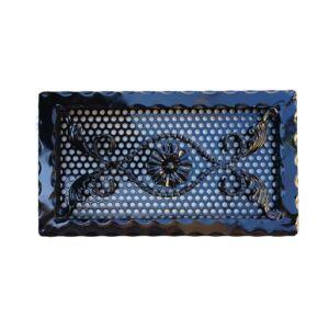Kovácsoltvas kandalló szellőzőrács - 390×220 mm - fekete