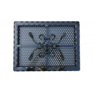 Kovácsoltvas kandalló szellőzőrács - 400×300 mm - fekete