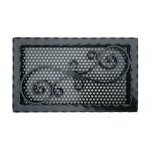 Kovácsoltvas kandalló szellőzőrács - 415×250 mm - fekete