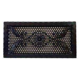 Kovácsoltvas kandalló szellőzőrács - 440×220 mm - fekete