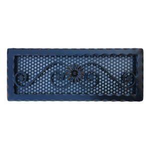 Kovácsoltvas kandalló szellőzőrács - 490×190 mm - fekete