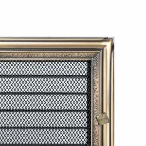 Zsalus kandalló szellőzőrács 17x30 cm - rusztikus