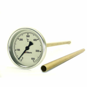 Kemencehőmérő, 0-600˚C-os, 6cm-es, védőcsővel