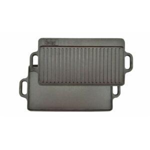 Öntöttvas grill lap - 2 oldalas 40 x 24 cm