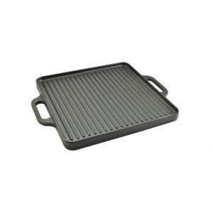 Öntöttvas grill lap - 2 oldalas 30 x 30 cm