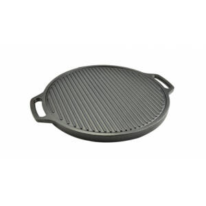 Kerek öntöttvas grill lap - 2 oldalas 43 cm