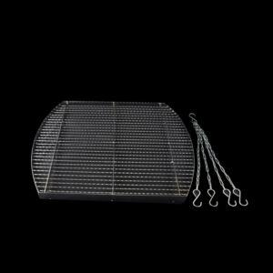Krómozott grillrács 70x60 cm + lánc