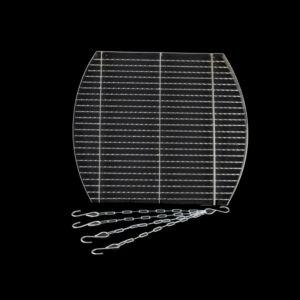 Krómozott grillrács 57x51 cm + lánc