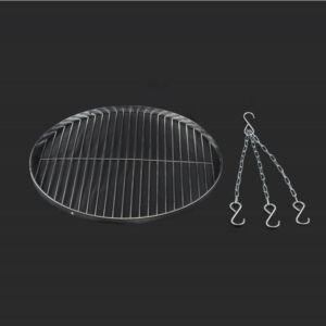 Krómozott grillrács 50 cm + lánc (14552)