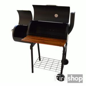 Grillkocsi füstölővel és asztallal