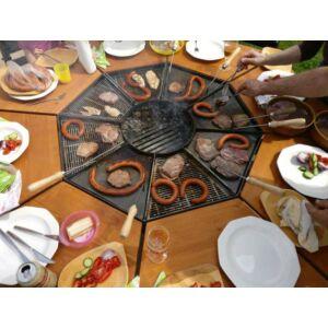 Kerti grillsütő asztal
