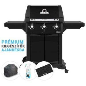 Broil King Signet 320 Black Edition kerti gázgrill csomag AKCIÓ+ajándék