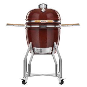 Kamado Chef 1900 Prestige Red Smooth grillsütő (rozsdamentes acél)