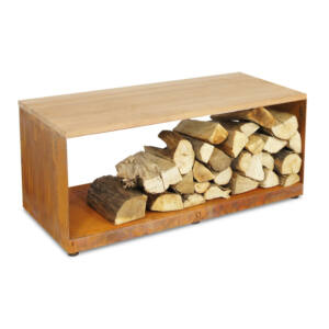 OFYR tűzifa tároló pad (wood storage bench)
