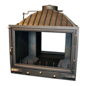 Pilis-2AB dupla ajtós kandallóbetét tüzelőajtóval