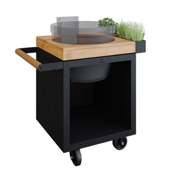 OFYR Kamado Table Black 65 PRO kerti asztal (Kamado Joe grillsütőhöz)