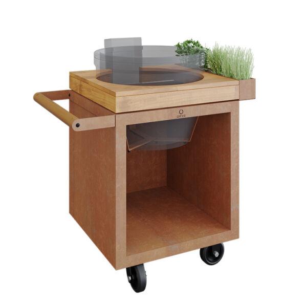 OFYR Kamado Table Corten 65 PRO kerti asztal (Kamado Joe grillsütőhöz)