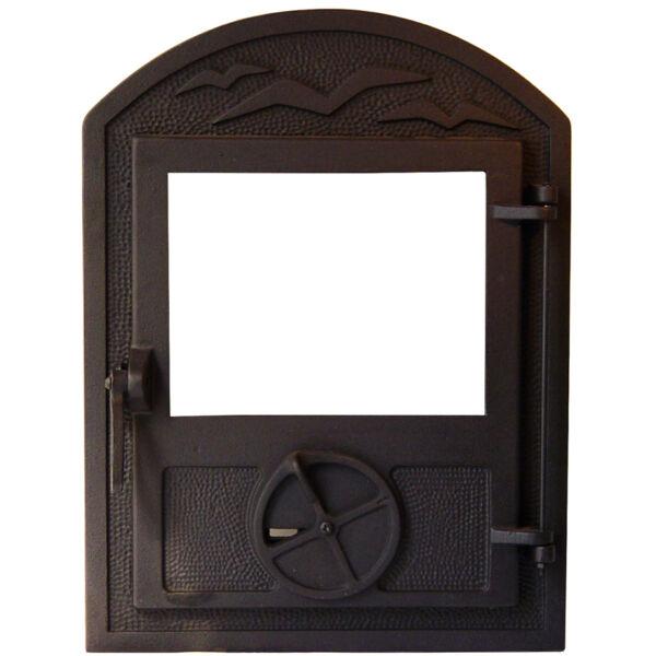 Íves kis ablakos hagyományos kályhaajtó
