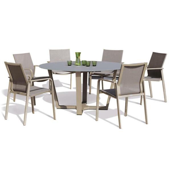 Evora kerek étkezőasztal