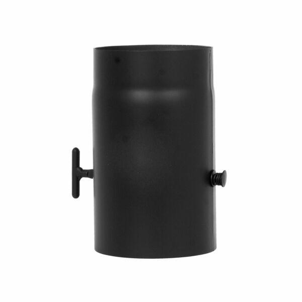 Füstcső, kályhacső pillangószeleppel 130 mm x 250 mm (2 mm vastag)