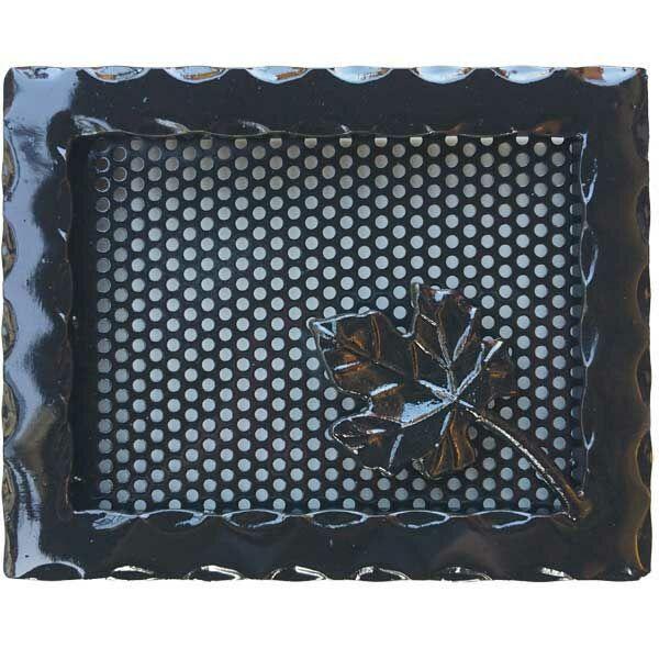 Kovácsoltvas kandalló szellőzőrács - 250×200 mm - fekete