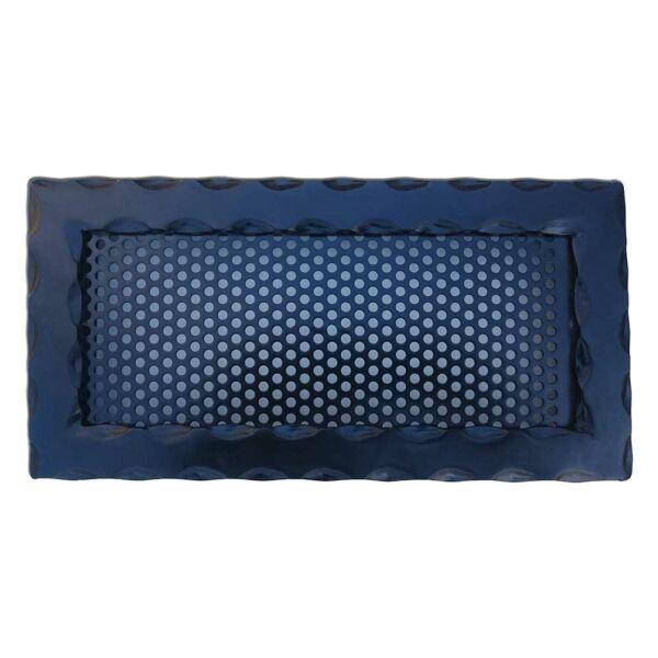 Kovácsoltvas kandalló szellőzőrács - 300×150 mm - fekete