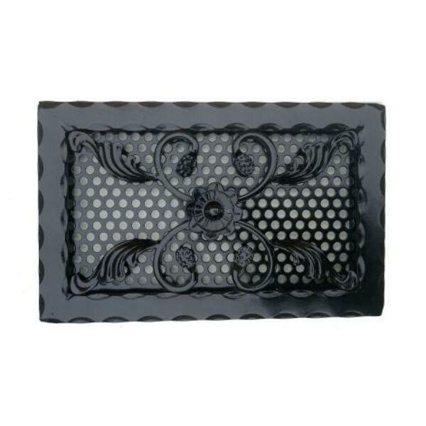 Kovácsoltvas kandalló szellőzőrács - 320×200 mm - fekete