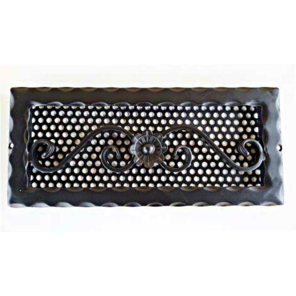 Kovácsoltvas kandalló szellőzőrács - 335×165 mm - fekete