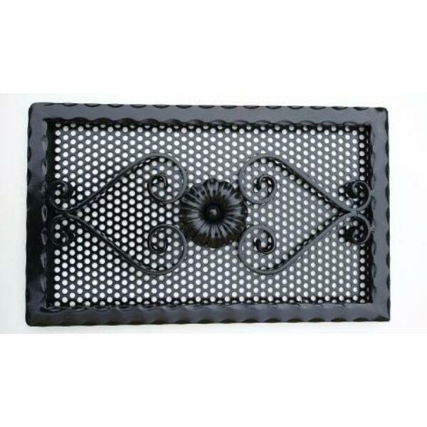 Kovácsoltvas kandalló szellőzőrács - 650×330 mm - fekete