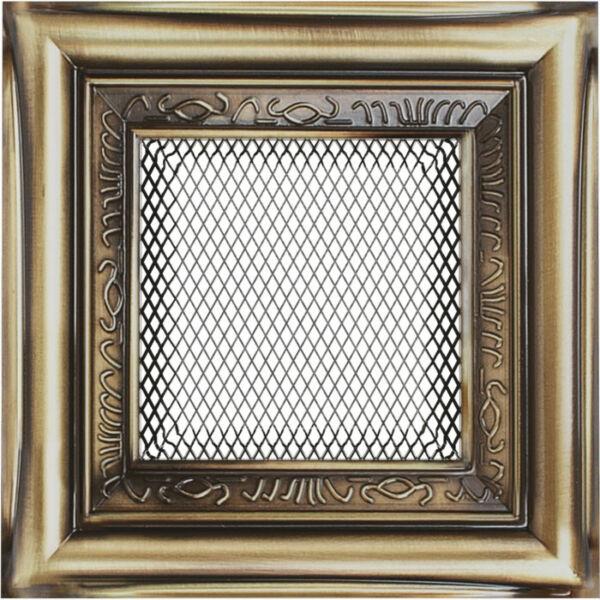 Rusztikus kandalló szellőzőrács 11x11 cm