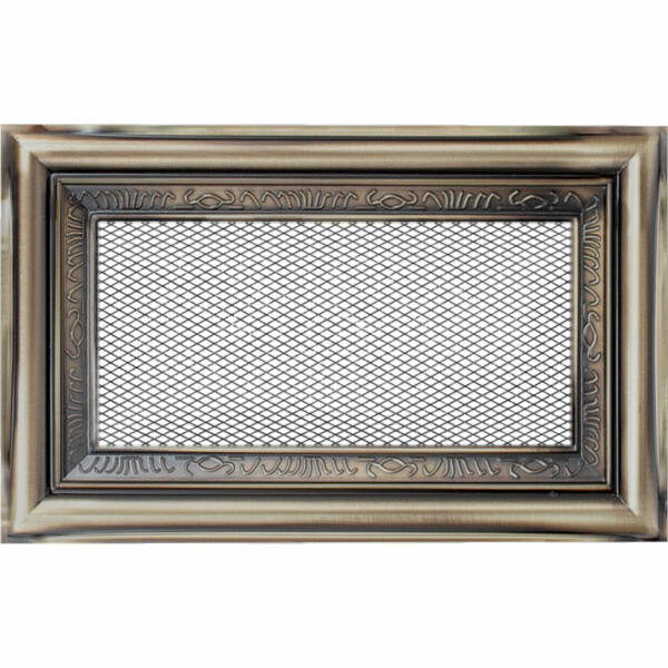 Rusztikus kandalló szellőzőrács 11x17 cm