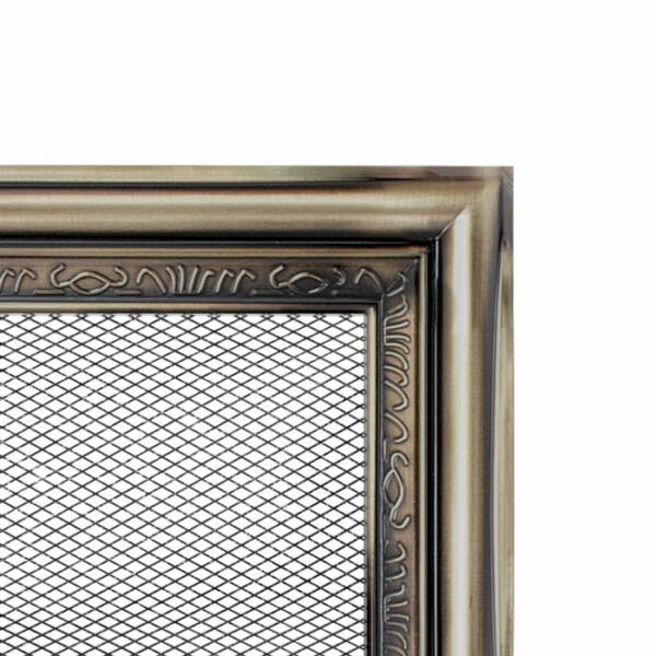 Rusztikus kandalló szellőzőrács 11x42 cm