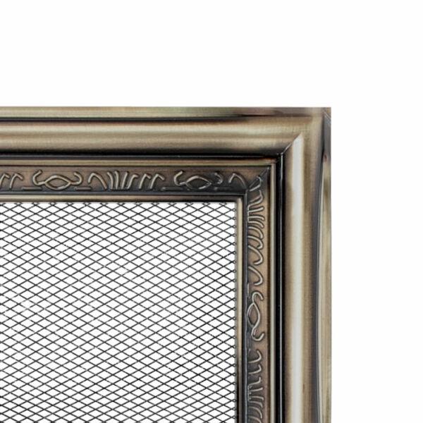 Rusztikus kandalló szellőzőrács 22x22 cm