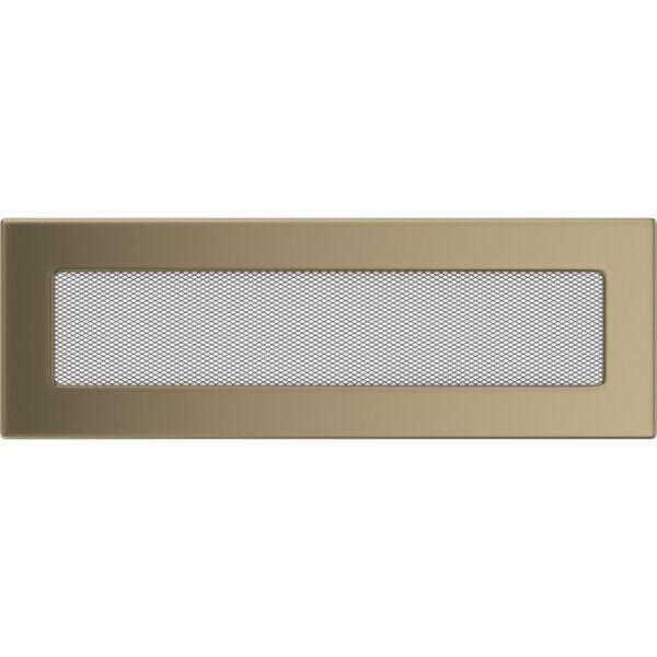 Galvanizált kandalló szellőzőrács 11x32 cm - arany