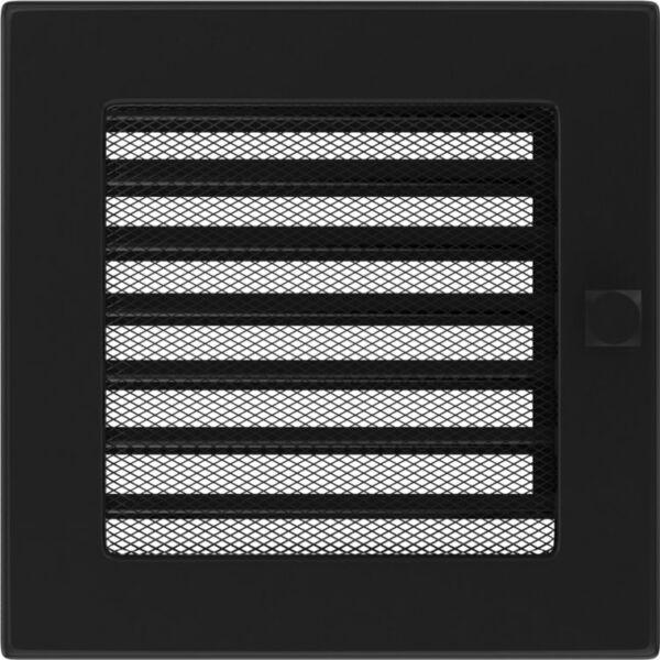 Kandalló zsalus szellőzőrács 17x17 cm