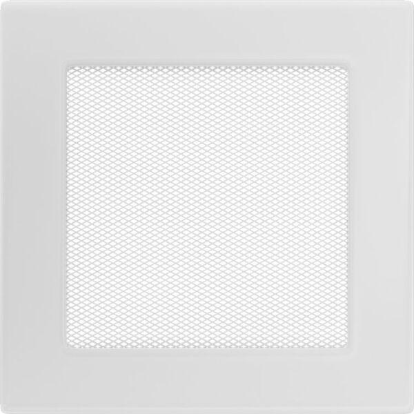 Kandalló szellőzőrács 17x17 cm - fehér