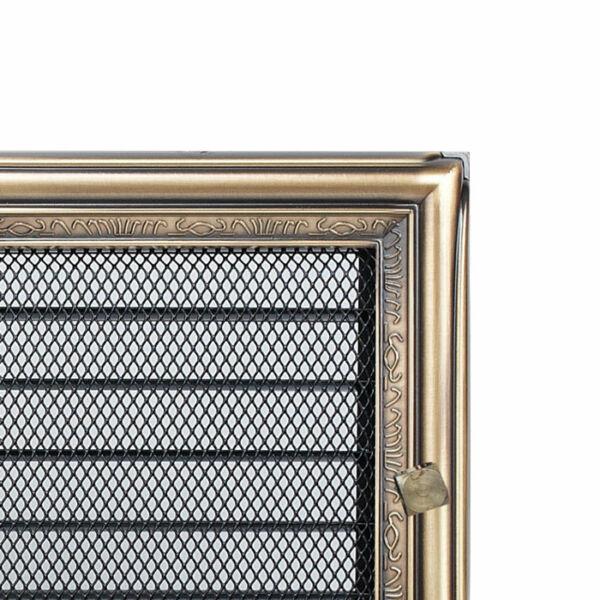 Zsalus kandalló szellőzőrács 17x37 cm - rusztikus