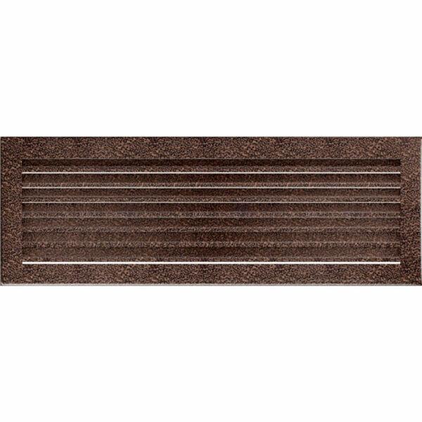 FRESH kandalló szellőzőrács 17x49 cm - fekete-réz