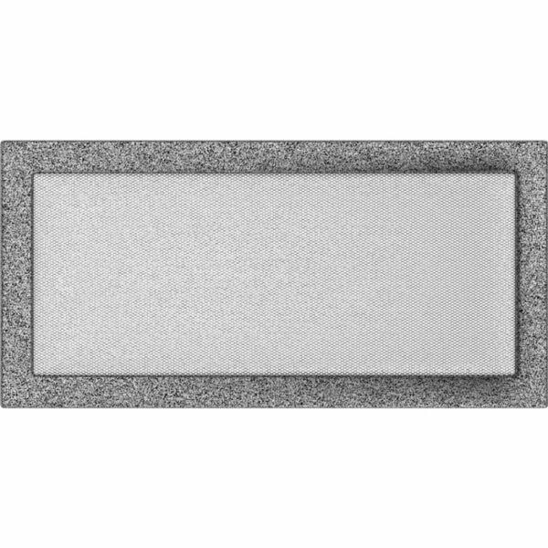 Kandalló szellőzőrács 22x45 cm - fekete-ezüst