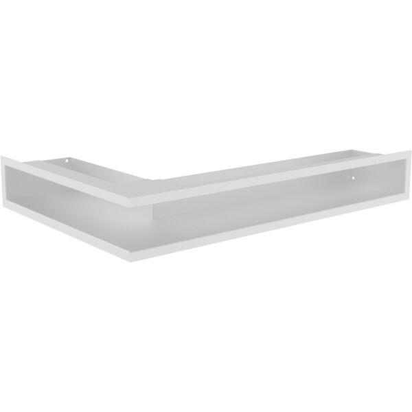 LUFT sarok kandalló szellőzőrács 60x40x9 cm (jobbos) - fehér