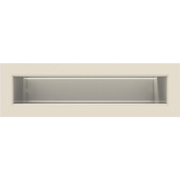 LUFT minimal kandalló szellőzőrács 6x20 cm (hátfallal) - bézs