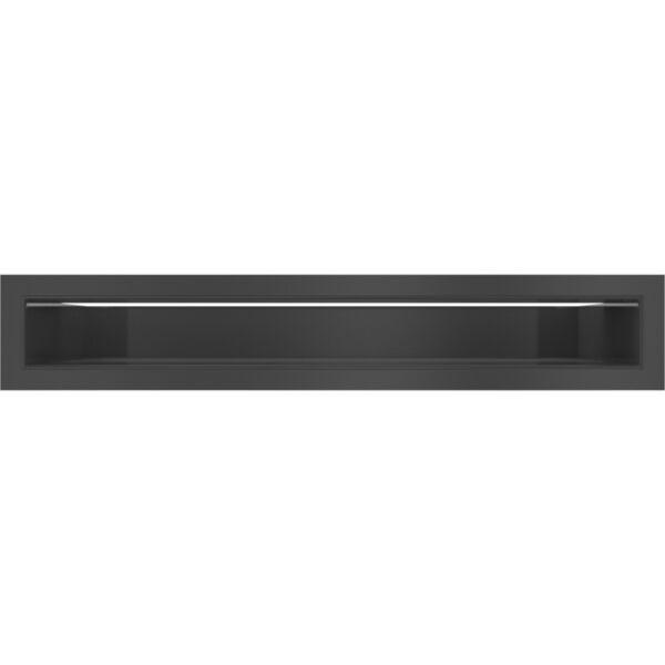LUFT minimal kandalló szellőzőrács 6x40 cm (hátfallal)