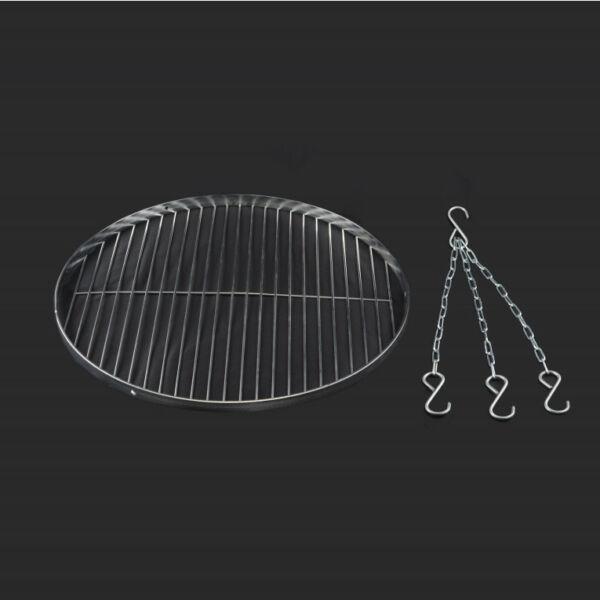 Krómozott grillrács 50 cm + lánc